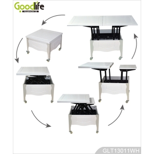 Folding dining table coffee table wood space saving furniture