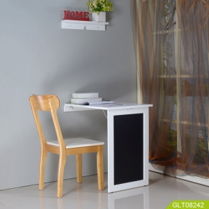 Folding table on wall for study and dining