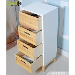 gabinete de almacenamiento de cuatro cajones de madera en