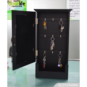 Wall mounted wooden elegant jewelry cabinet