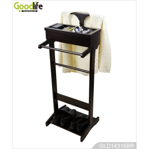 Latest style high quality clothes hanger rack with jewelry cabinet