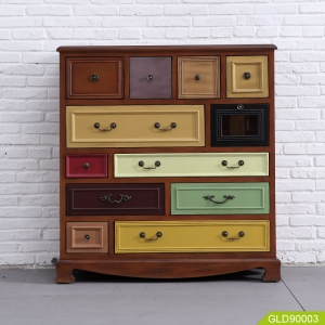 GLD90003 wholesale Chinese Antique storage chest cabinet home furniture with twelve drawers