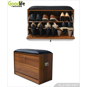 Living room furniture GLS18815 wooden shoe rack shoe cabinet from goodlife