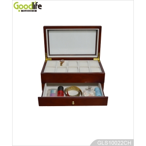 Goodlife OEM ODM Wooden Watch Box for 10 Watches with a Drawer GLS10022