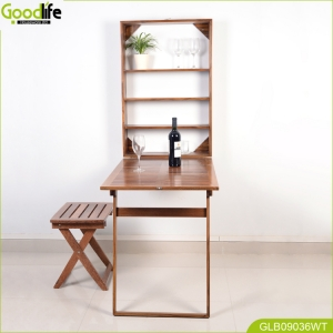Goodlife Teak wood outdoor furniture wall mounted table GLT09036