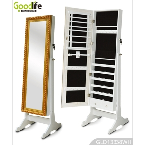 Goodlife Wholesale Standing Jewelry Mirror Cabinet GLD13338