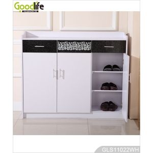 Goodlife Wooden Storage Cabinet with 3 Drawers for Shoe and Accessory GLS11022
