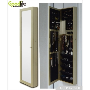 Goodlife classic wall mounted mirrored jewelry storage cabinet GLD14739