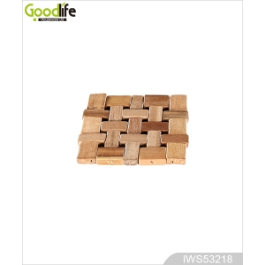 Goodlife rubber wood coaster , coffee pad,wood color IWS53218
