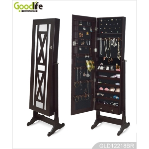 Goodlife three-in-one Antique Full length Wooden Jewelry Storage Cabinet GLD12218