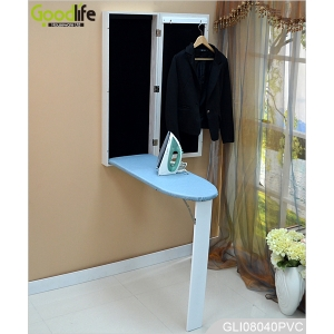 Goodlife wall mounted folding ironing board cabinet with full length dressing mirror GLI08040A