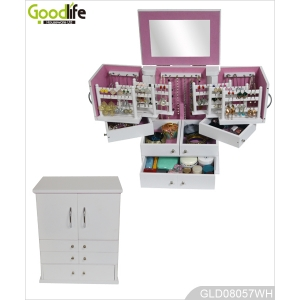 Goodlife wooden jewelry cabinet for women's make up and dressing GLD08057