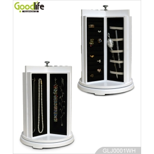 Rotating Round Wooden Jewelry and Makeup Organizer GLJ0001