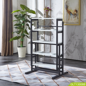 High quality folding table with metal convert shelf