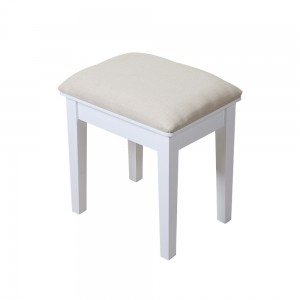 Home Use KD Knocked Down Wooden Chair Makeup Stool