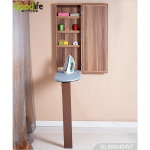 Home ironing center furniture wall mounted mirrored ironing board cabinet GLI08040