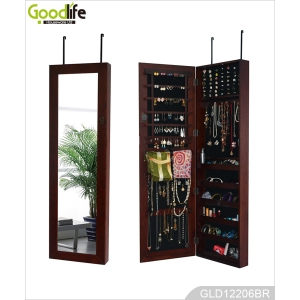 Hot Sale Door Hanging Wooden Mirror Cabinet for Jewelry GLD12206