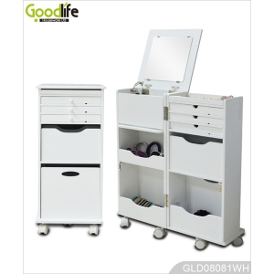 Hot Sale Goodlife Multiple Function Wheeled Wooden Storage Cabinet GLD08081