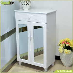 Wooden shoes cabinet with drawer Wholesale shoe rack living room furniture