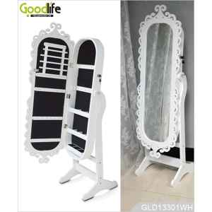 Hot selling french dresser mirror with jewelry cabinet made in China GLD13301