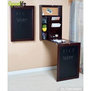 Hot selling wall mounted fold out drop leaf table with blackboard GLT08036