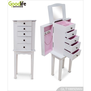 Jewelry Cabinet Bedroom Furniture With Floor Standing Legs
