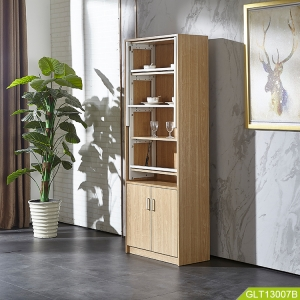 Kitchen storage cabinet MDF board with malamine inside build in conversion metal shelf with storage drawer space saving furniture.