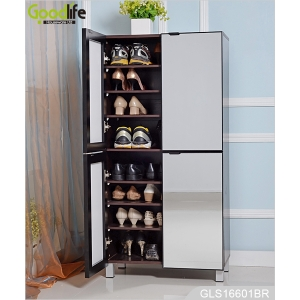 Large storage space cabinet for shoes storage with mirror doors GLS16601