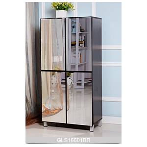 Large storage space cabinet for shoes storage with mirror doors