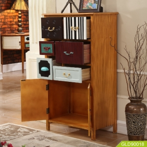 Latest design modern colorful antique wooden sideboard fashion display decorative lockers