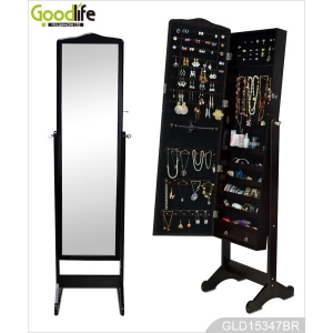 Living room furniture supplier mirror jewelry cabinet with for Full length mirror in living room