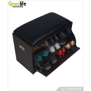 MDF wooden shoe cabinet with seat furniture from China