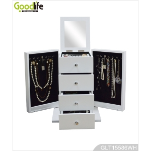 Made in china wooden mirrored jewelry box jewelry storage case GLD15586