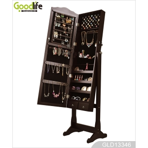 Mirror storage organizer box jewelry cabinet GLD13346