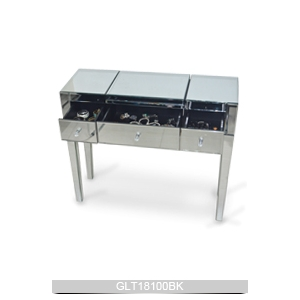 Mirrored Bedroom Vanity Table With Drawers