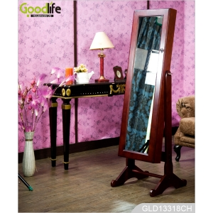 Mirrored jewelry cabinet wholesale low price classic style cabinet for women accessories