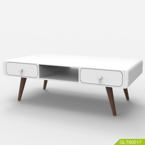 Modern Fashion Simple New Style home furniture white high gloss solid wood legs wooden TV stand coffee table