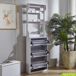 Modern simple coat rack and mirror shoe cabinet combination living room space saving furniture with high quality