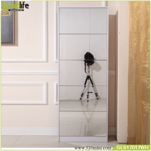 Modern simple design  five doors mirrored shoe cabinets durable factory direct sales GLS17017