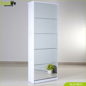 Multi-functional shoe cabinet clean lines decoration living room GLS18805