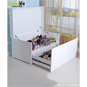 New arrival luxury furniture seated wooden shoe organizer shoe storage cabinet GLS18818