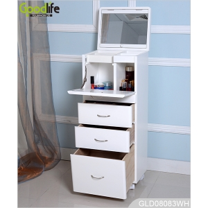 New design large wooden storage cabinet for makeup and accessory in bedroom GLD08083