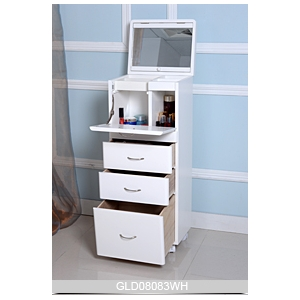 New design large wooden storage cabinet for makeup and accessory in ...