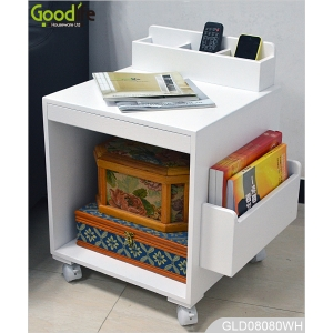 New design wooden folding storage cabinet with wheels GLD08080