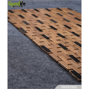 New pattern Teak wooden mat to protect bathing  IWS53362