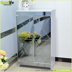 OEM/ODM  Shoe cabinet furniture with mirror,wooden shoe cabinet  Made in China