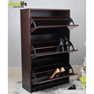 OEM Wooden Shoe Cabinet with Dressing Mirrors Goodlife GLS17016