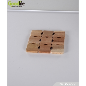 Of Hot Sale And High Quality Rubber Wood Coaster , Coffee Pad IWS53222