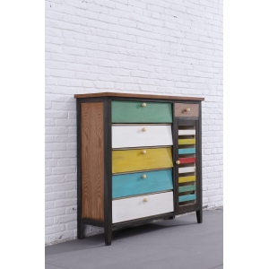 Organizer luxury and fashion storage cabinet  new design European retro color cupboard