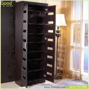 PVC wooden shoe cabinet for sale with paper veneer
